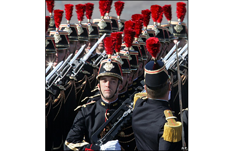 Republican Guards on parade