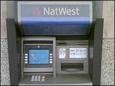 NatWest machine at Cardiff station