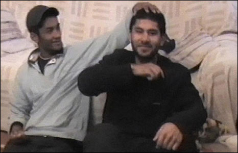 Waheed Ali and bomber Hasib Hussain, November 2004, in Mohammad Siddique Khan's home
