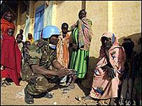 جندي تابع للأمم المتحدة في السودان