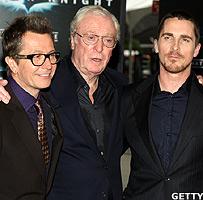 Gary Oldman, Michael Caine, Christian Bale