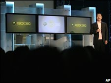 Yoichi Wada, president of Square Enix, speaks during a news conference