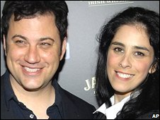 Jimmy Kimmel and Sarah Silverman