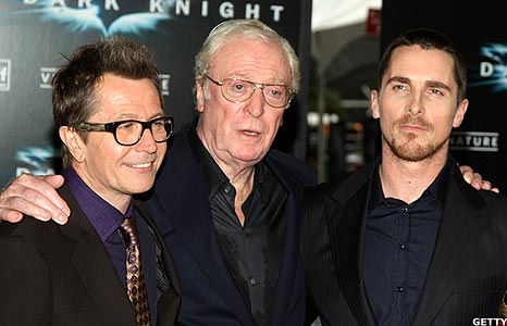 Gary Oldman Michael Caine and Christian Bale