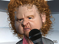 Computer generated image of Mick Hucknall