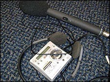 Portable recording equipment