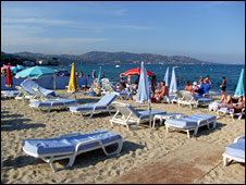 Beach in St Tropez
