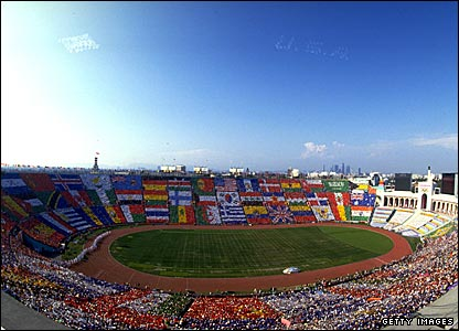 The opening ceremony of the 1984 Olympics was held at the Los Angeles Coliseum