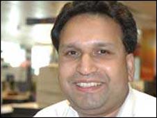 BBC Radio reporter, Barnie Choudhury