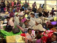 Congolese refugees in UNHCR refugee camp in Gisenyi, Rwanda