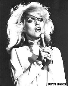 Blondie's Debbie Harry performing in the late 1970s