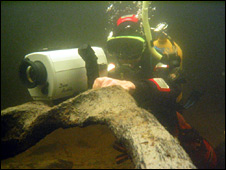 Underwater archaeology at Loch Tay