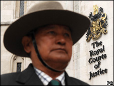 Gurkha outside the Royal Courts of Justice