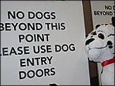 Sign at Crufts