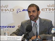 Etihad chairman Dr Sheikh Ahmed bin Saif Al Nahyan