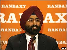Chief executive officer of Ranbaxy Malvinder Mohan Singh