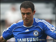 Chelsea defender Wayne Bridge