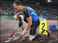 Double-amputee sprinter Oscar Pistorius