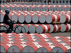 Fuel barrels in Indonesia