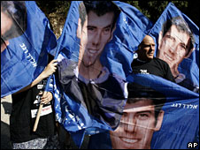 The two Israeli soldiers who were captured in 2006