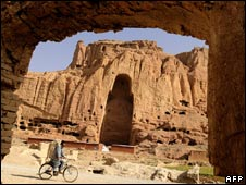 The seat of Bamiyan Buddhas