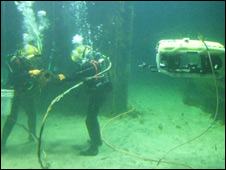 Divers and ROV