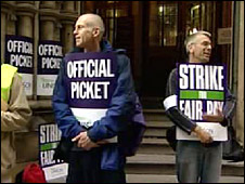 Picket line in Manchester