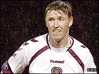 Linas Pilibaitis in action for Hearts