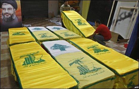 Hezbollah coffins