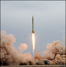 Iran missile test - Revolutionary Guard hand out