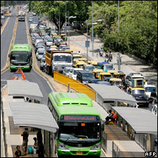 Traffic jam, New Delhi