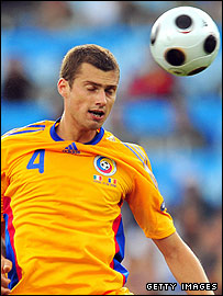 Gabriel Tamas in action for Romania