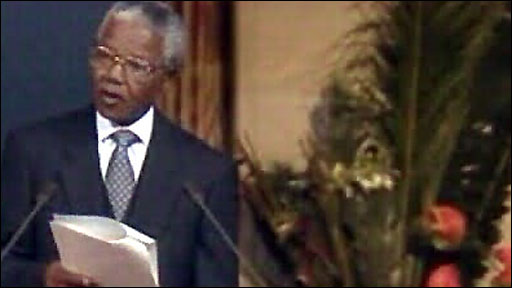 """the notion of freedom in nelson mandelas nobel peace prize acceptance speech A complete analysis of nelson mandela,s inaugural speech prepared by  muhammad  of our country of what is, after all, a common victory for justice, for  peace, for human dignity  """"we succeeded to take our last steps to freedom in  conditions of relative peace  nelson mandela nobel peace speach."""