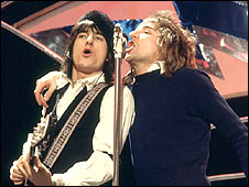 Ronnie Wood and Rod Stewart