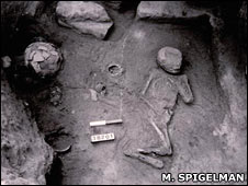Burial of a child from Beit Shean (Prof. Mark Spigelman)