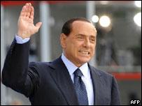 Primer ministro italiano, Silvio Berlusconi