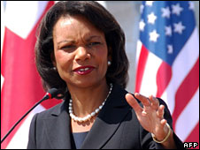 Condoleezza Rice (pictured 10 July)