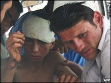 A boy injured in Sunday's attack