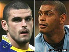 Stuart Reardon [left] and Leon Pryce