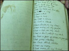 A page from Alexander's notebook