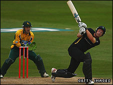 Notts and Yorkshire in Twenty20 action this year