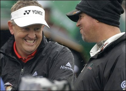 Scotland's Colin Montgomerie and American Boo Weekley