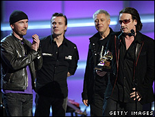 U2 at the 2005 Grammy awards
