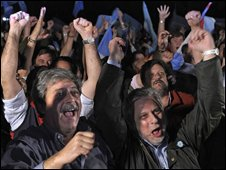 Farmers' leaders in Buenos Aires react to Julio Cobos' vote in the Argentine Senate