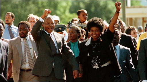 Nelson Mandela and wife Winnie