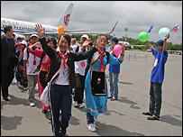 Китайские дети прибывают во Владивосток