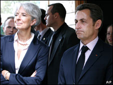 President Nicolas Sarkozy and Minister Christine Lagarde
