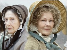 Dame Eileen Atkins (l) and Dame Judi Dench