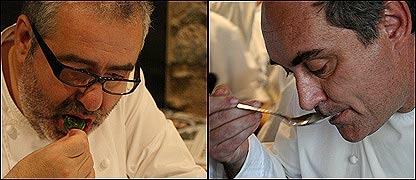 Santi Santamaria y Ferran Adria  (Foto: Gabriela Torres)
