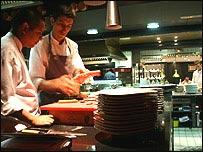 Cocina del restaurante Can Fabes (Foto: Gabriela Torres)